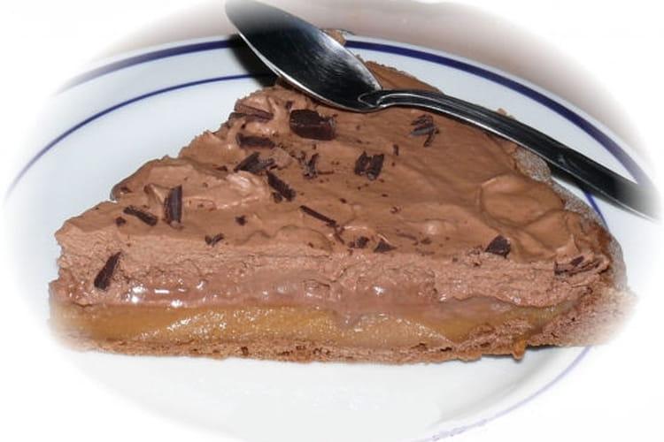 Tarte au chocolat au lait et caramel