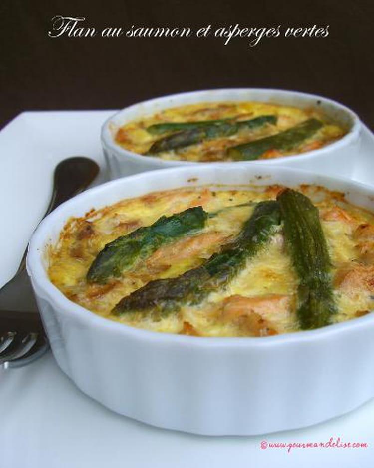 Recette de flan au saumon et aux asperges vertes la recette facile - Cuisiner les asperges vertes fraiches ...