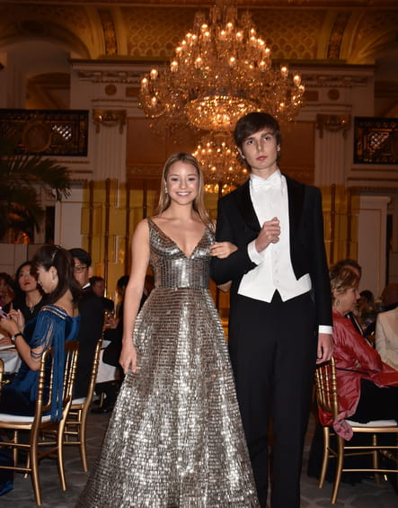 Amelia Ash Rudick et son cavalier le marquis Filippo Patrizi Naro Montoro