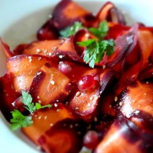 salade de carotte, grenade et sésame