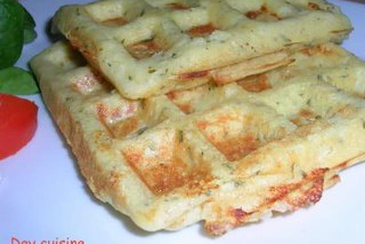 Gaufres salées aux pommes de terre et persil