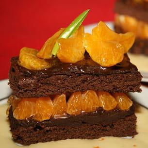 gâteau chocolat et clémentines