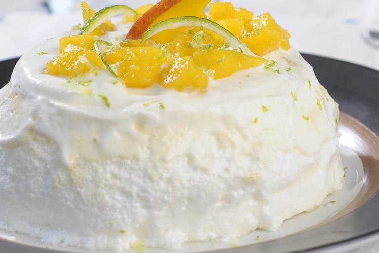 Pavlova à la mangue et au citron vert