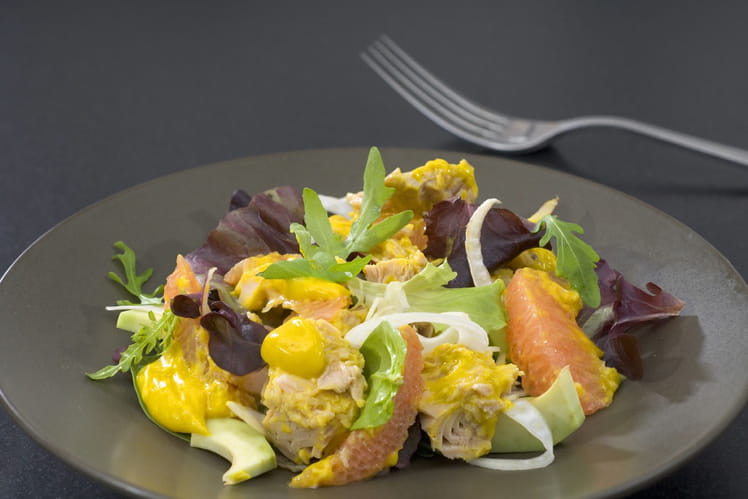 Salade fraîche thon & pamplemousse