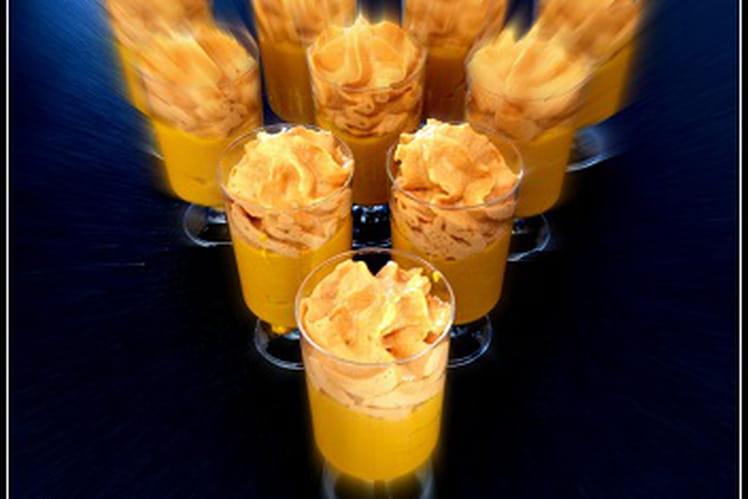 Soupe froide de carotte et chantilly saveur barbecue