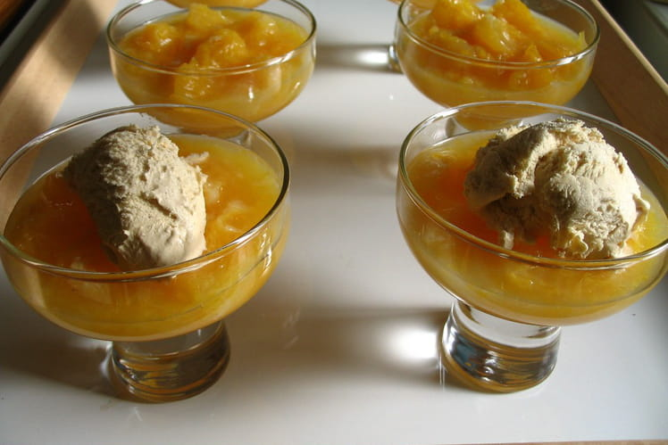Soupe d'oranges glacée au sauternes