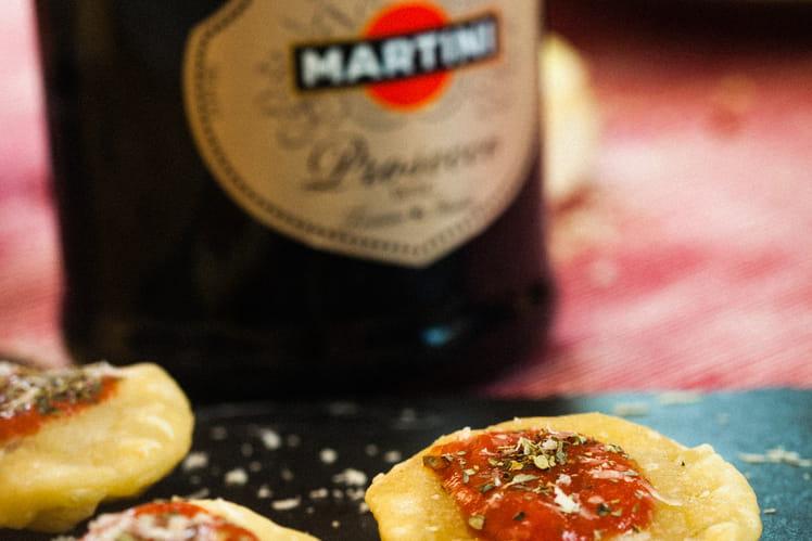 Pizzelle aux tomates, échalotes et parmesan
