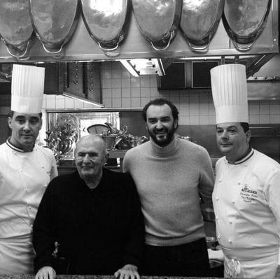 Cyril Lignac et Paul Bocuse, une photo étoilée