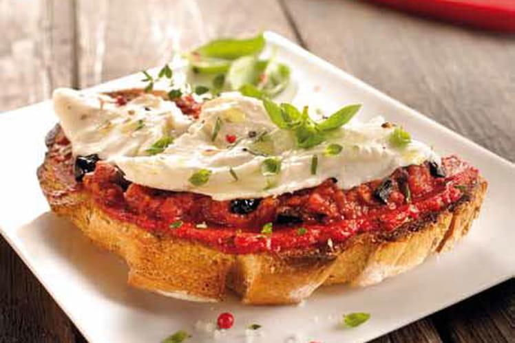 Bruschetta à la pulpe de tomates
