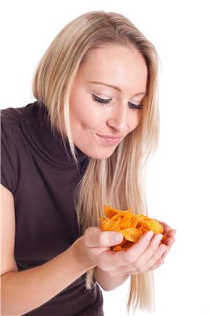 les chips sont à consommer avec modération puisqu'ils sont cuits dans l'huile.
