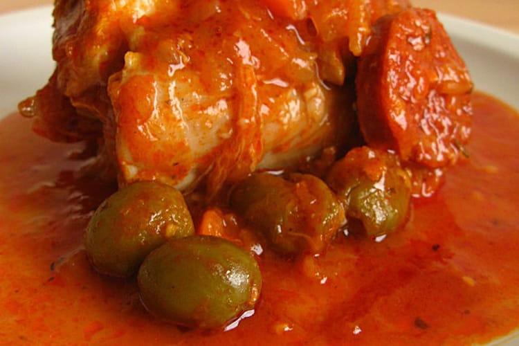 Paupiettes de veau aux olives, carottes et chorizo