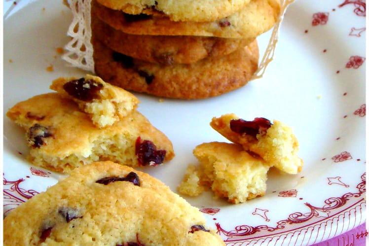 Cookies au chocolat blanc et baie de cranberry