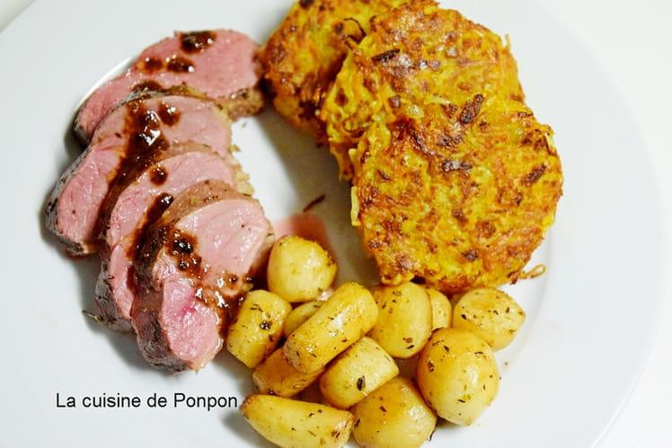 Galettes de carottes et pommes de terre