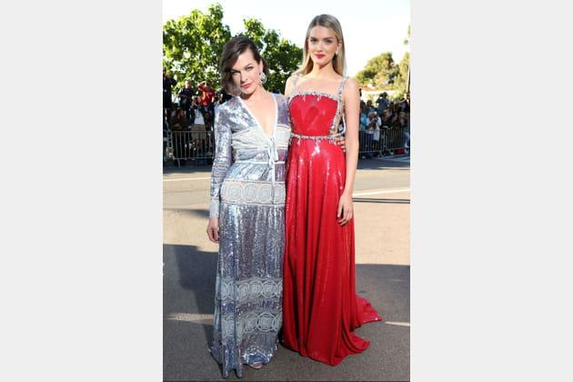 Milla Jovovich and Lily Donaldson, élégance et distinction