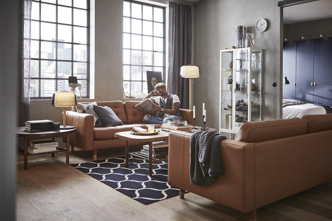 canape cuir IKEA