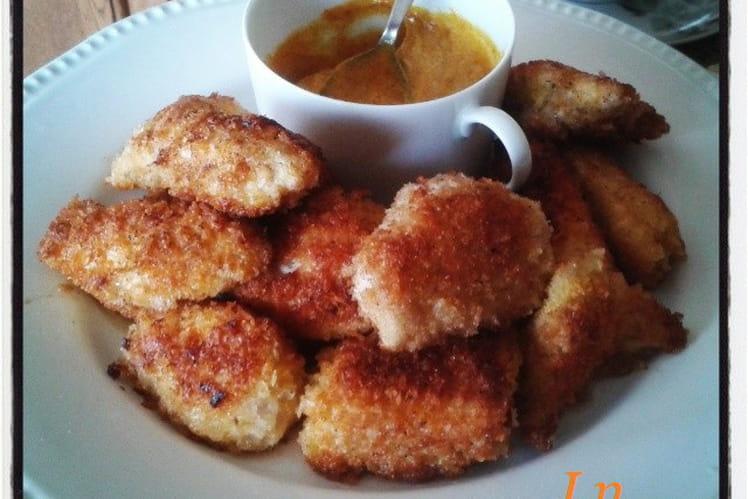 Croustillants panés de dinde sauce mayonnaise au curry