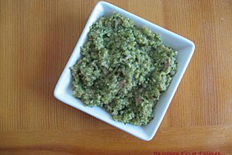 Risotto de quinoa aux épinards, thon et parmesan