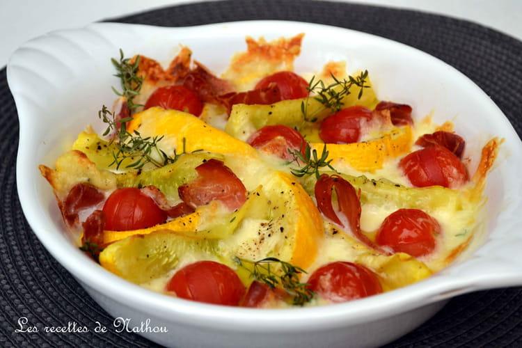 Recette de courgettes rondes et tomates cerise r ties au - Cuisiner courgettes rondes ...