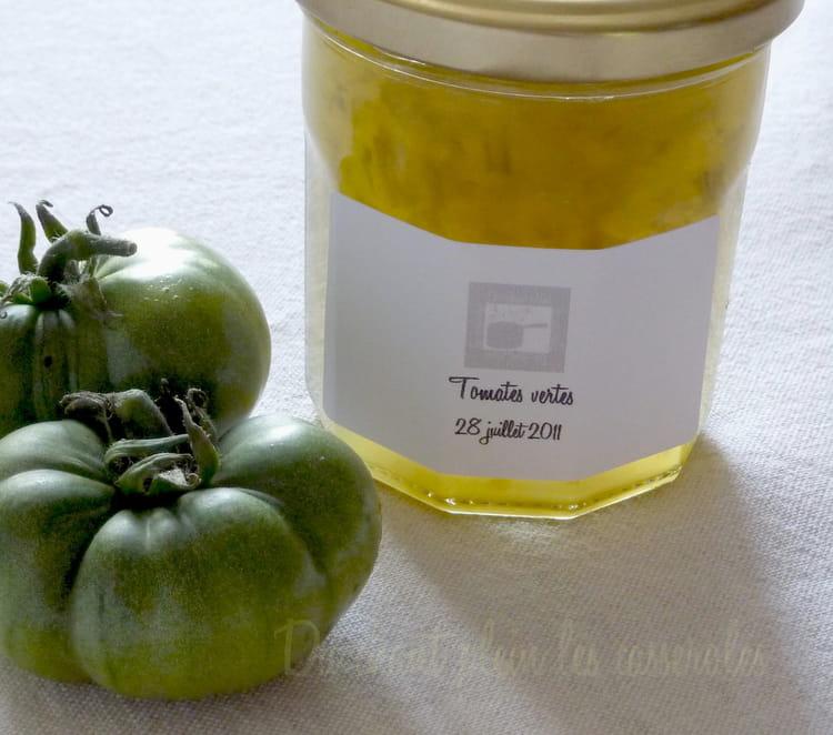 Recette de confiture de tomates vertes au cognac la for Jardin facile cognac