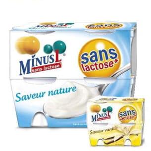yaourts nature ou à la vanille, sans lactose