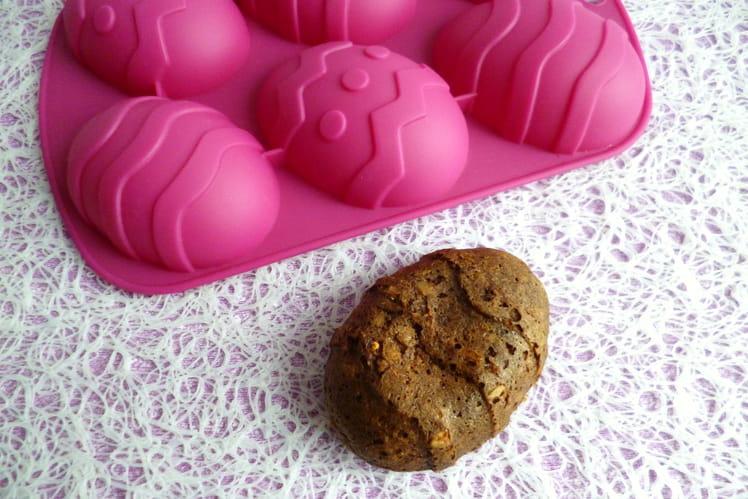 Gâteaux-oeufs diététiques protéinés au ChiCafé et muesli son d'avoine pépites de chocolat