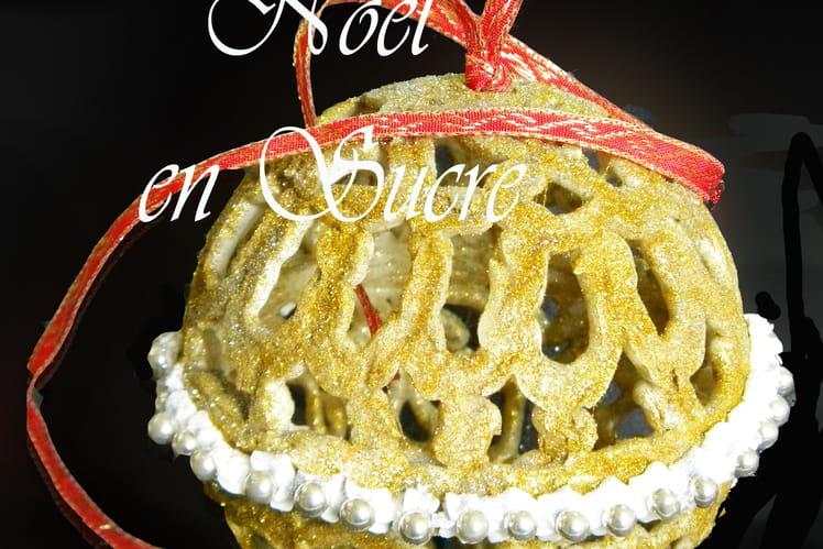 La boule de Noël en sucre