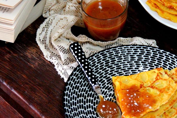 Crêpes et caramel au beurre salé