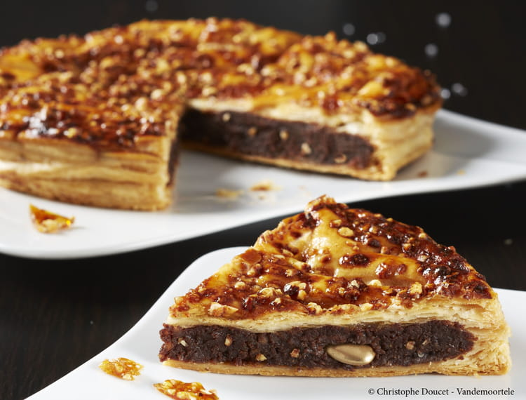 Recette de galette des rois frangipane nougatine chocolat la recette facile - Recette facile galette des rois ...
