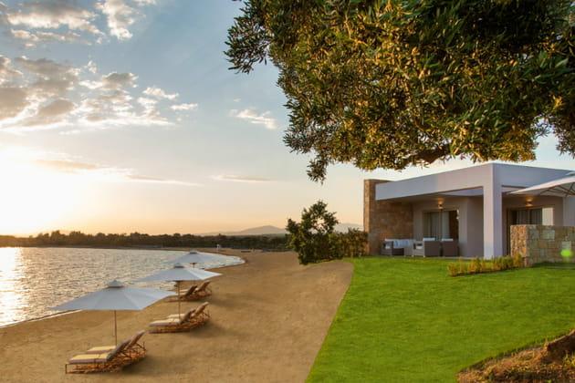 Les bungalows sur mer de l'hôtel Ikos Olivia
