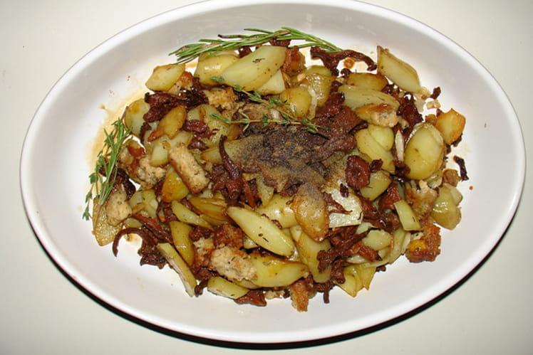 Poêlée de girolles et pommes de terre à la sauce soja