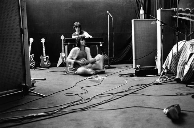 Mick Jagger & Keith Richards, studio