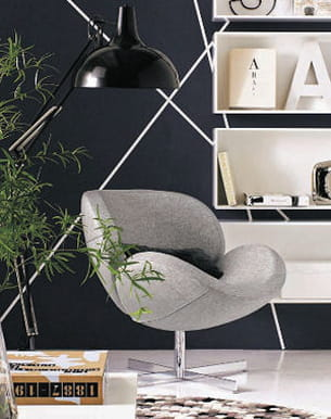 fauteuil schelly en tissu gris de bo concept. Black Bedroom Furniture Sets. Home Design Ideas