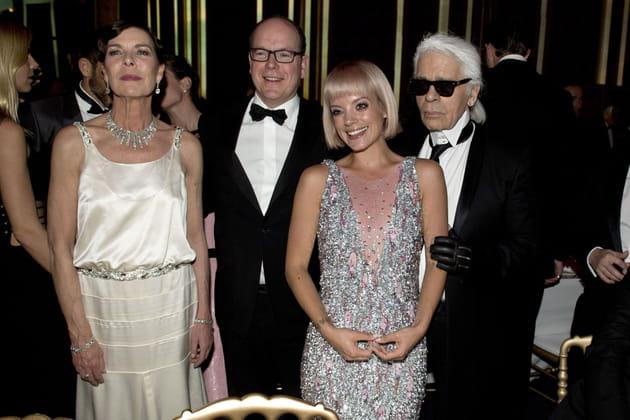 Princesse Caroline, Prince Albert, Lily Allen et Karl Lagerfeld