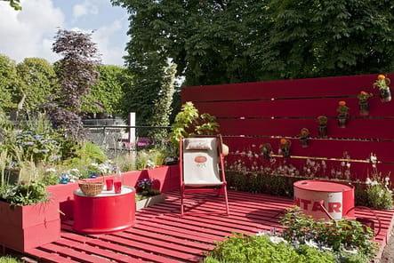 Une terrasse recyclée