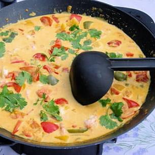 curry de poivrons au lait de coco