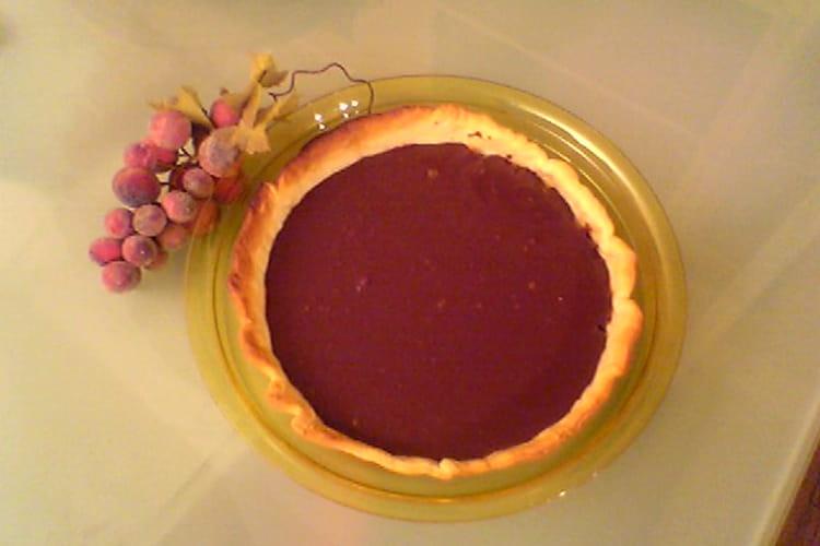 Tarte croustillante aux deux chocolats