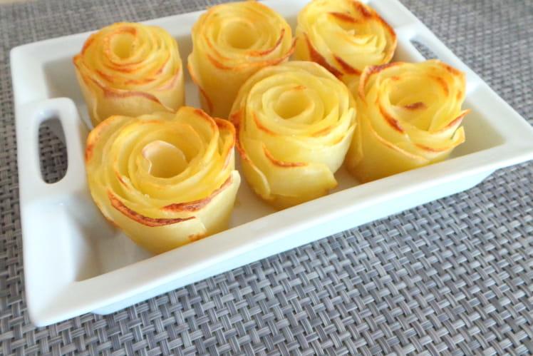Roses de pommes de terre au four