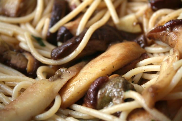 Spaghettis aux cèpes