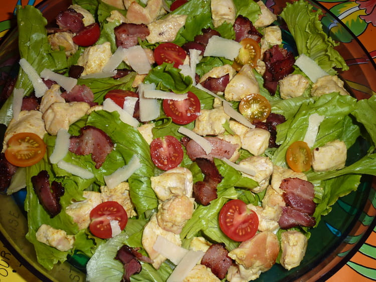 recette salade au poulet c sar salade poulet. Black Bedroom Furniture Sets. Home Design Ideas