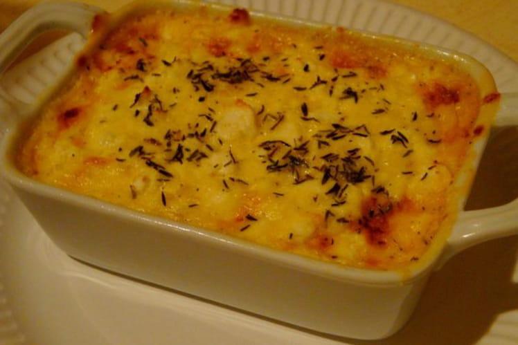 Clafoutis au jambon, oignons et tomates