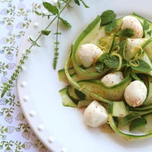salade de courgettes et mozzarella