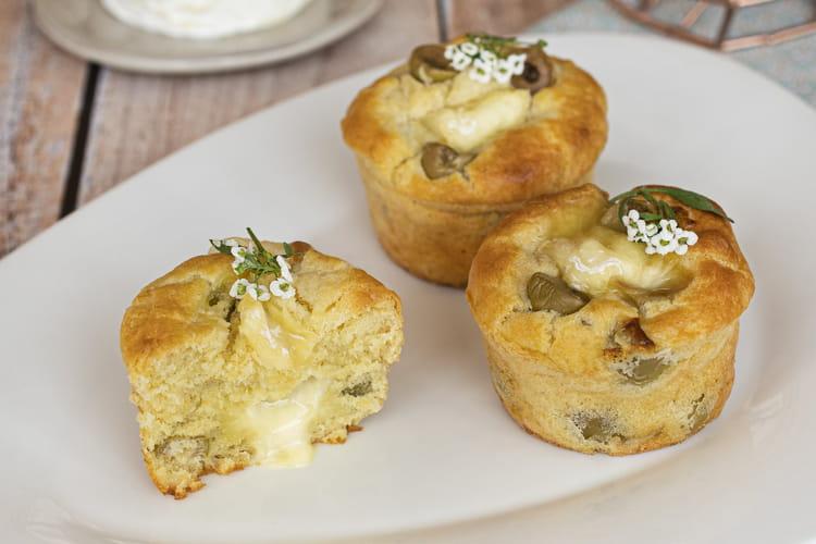 Muffins aux olives et Saint-Marcellin