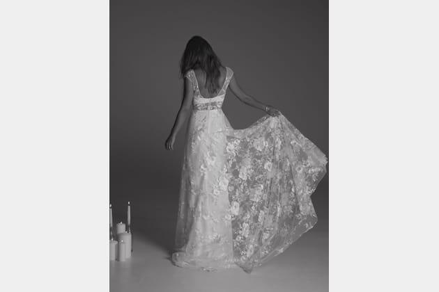 Robe de mariée Delilah, de dos