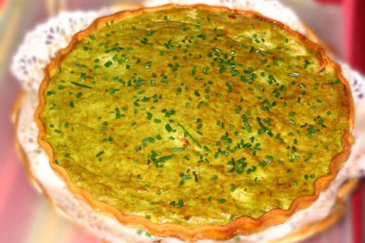 Quiche de saumon aux poireaux et au curry