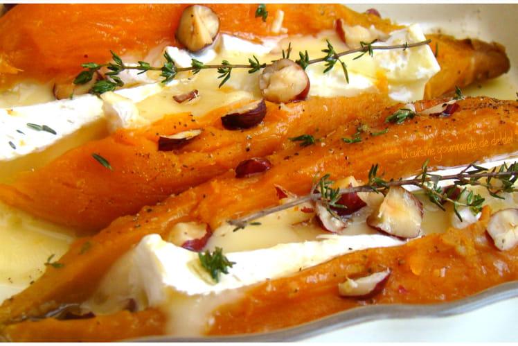 Patates douces au camembert