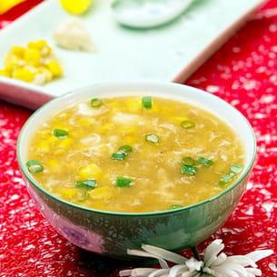 soupe de maïs au crabe