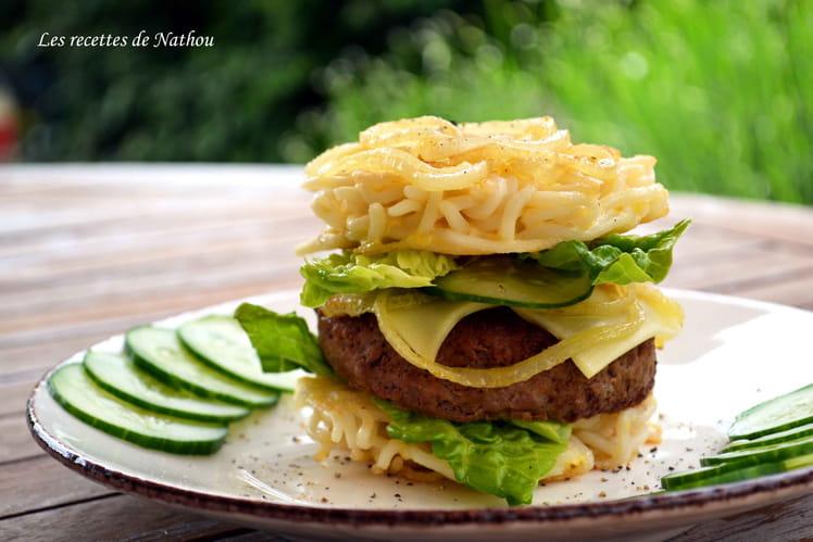 Burger aux nouilles japonaises ramen burger