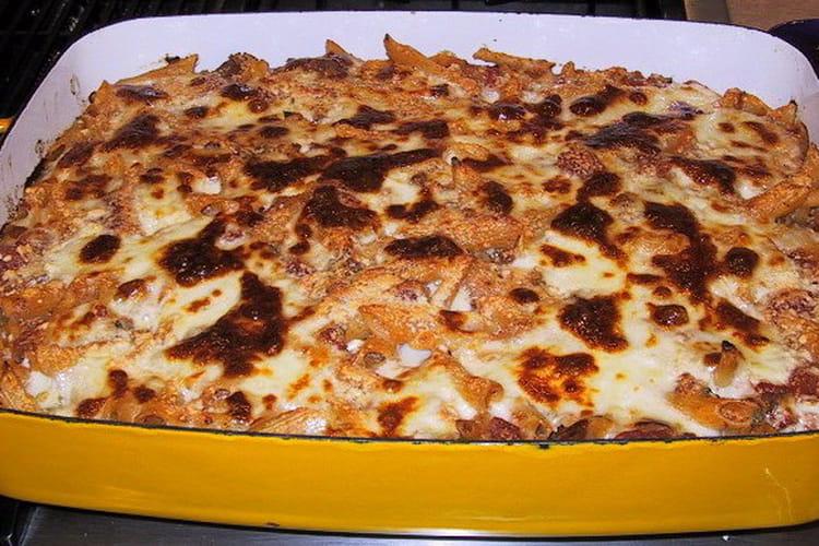 Gratin de macaronis au thon