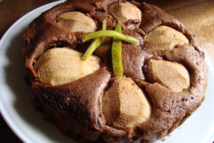 Moelleux croustillant choco-poires