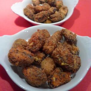 moules panées curry pavot